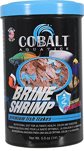 Cobalt Aquatics Brine Shrimp Flakes Premium Fish Food - 16 oz