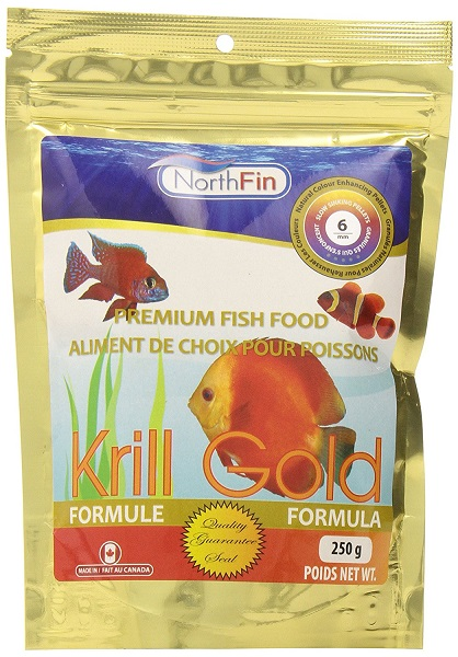 NorthFin Krill Gold - 6 mm Sinking Pellets - 1 kg