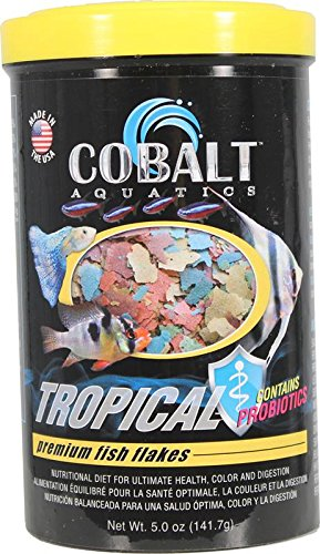 Cobalt Aquatics Tropical Flakes Premium Fish Food - 10 lb
