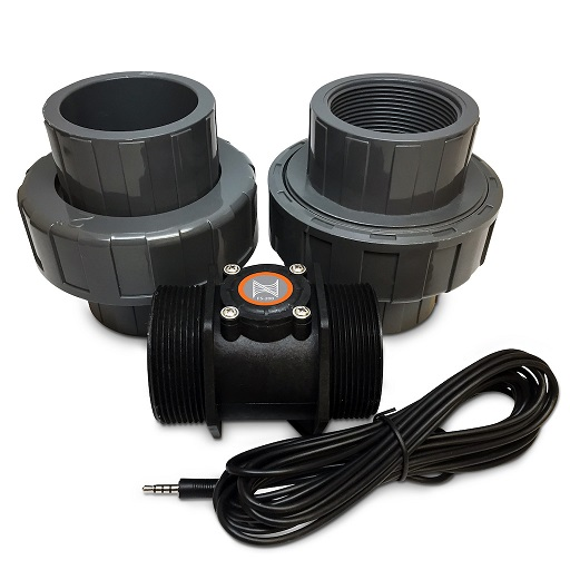 "Neptune Apex Flow Sensor 2"" with Unions"
