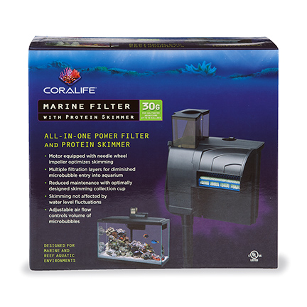 Coralife Marine Filter with Protein Skimmer - 30 gallons