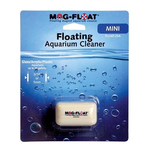 Gulfstream Tropical Mag-Float Floating Glass/Acrylic Aquarium Cleaner - Mini