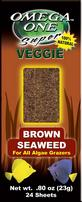 Omega One Super Veggie Seaweed Sheets - Brown - 24 pk