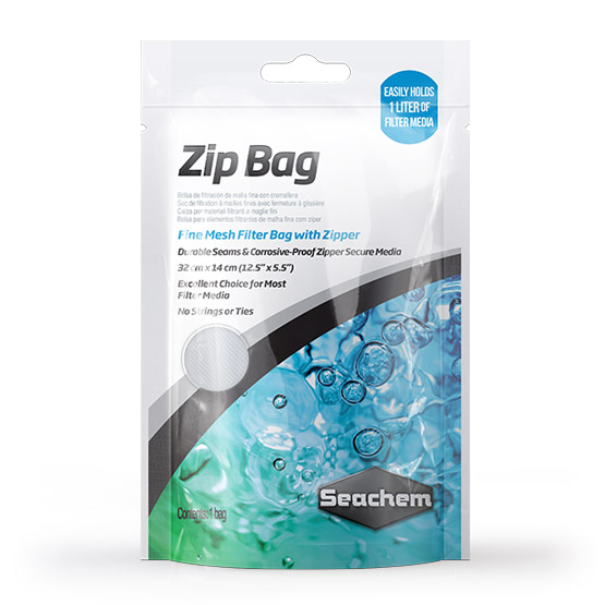 "Seachem Zip Bag - 12.5"" x 5.5"""