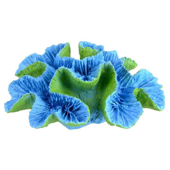 Underwater Treasures Open Brain Coral - Blue - Large
