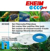 Eheim Fine/Coarse Filter Pad Set for Ecco Canister Filters - 5 pk
