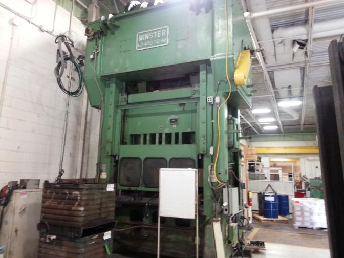 400 Ton Minster Straight Side Press For Sale Call 616