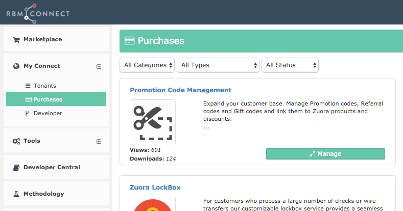connect, Invoice examples